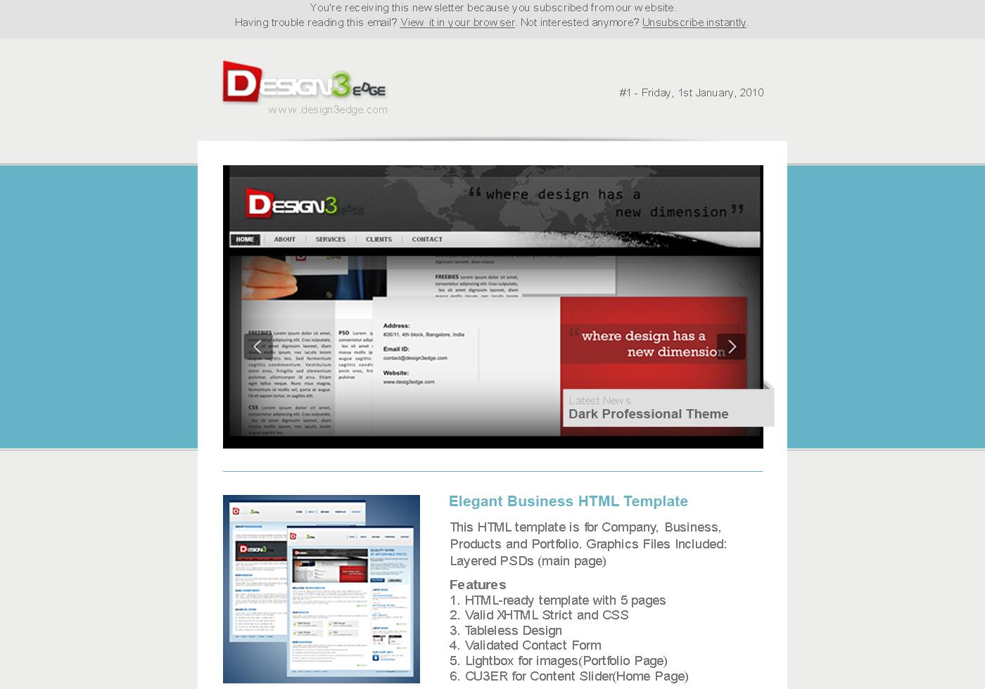 Elegant Email Template Free Photoshop Brushes At Brusheezy