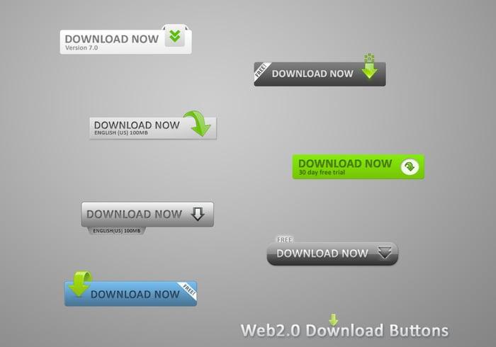 Boutons de téléchargement Web2.0