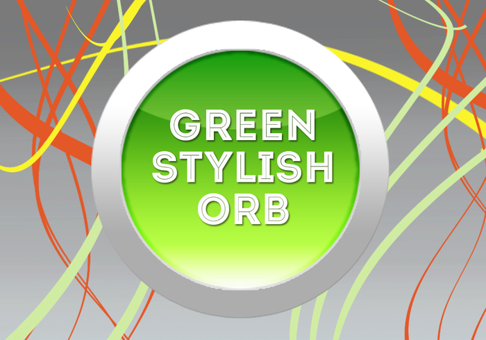 green stylish orb