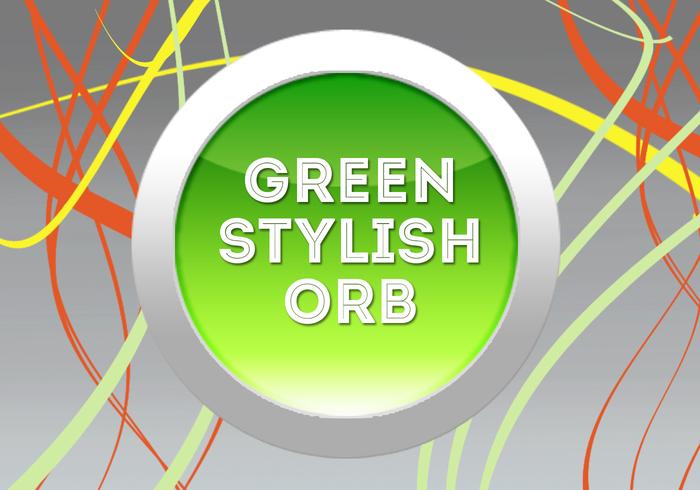 Esfera verde e elegante