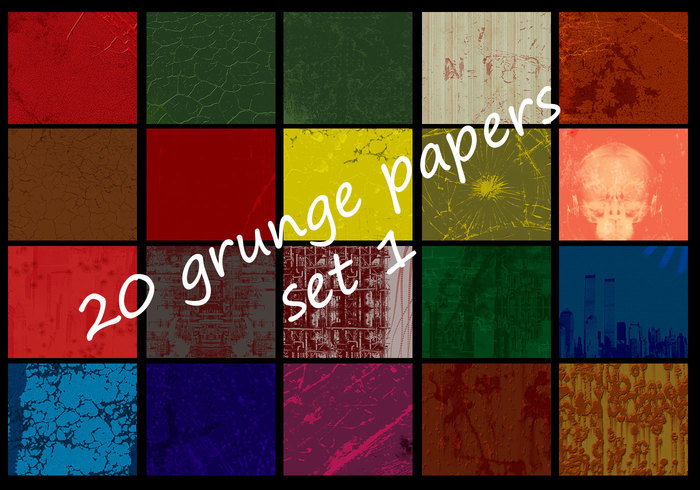Dirty grunge papers set I