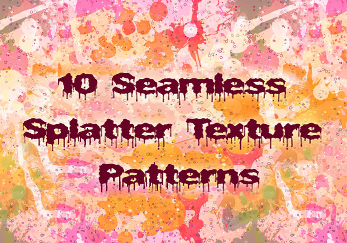 10 Seamless Splatter Patterns