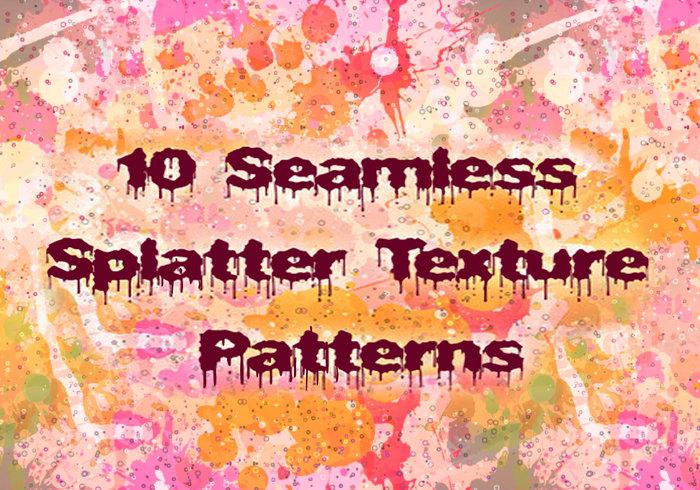 10 Seamless Splatter Patterns