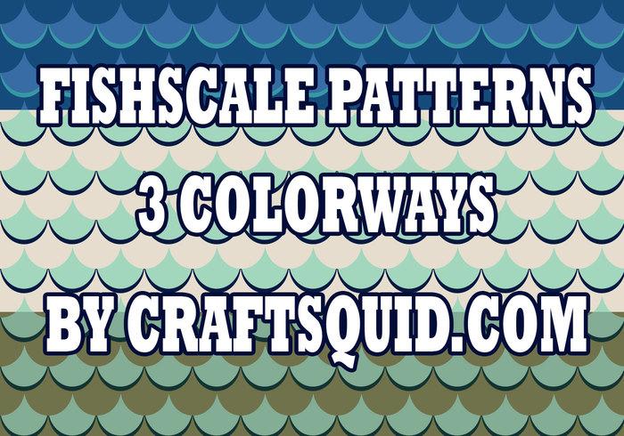 3 Modern Fish Scale Patterns