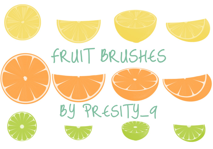 18 Pinceles de frutas para Photoshop CS3