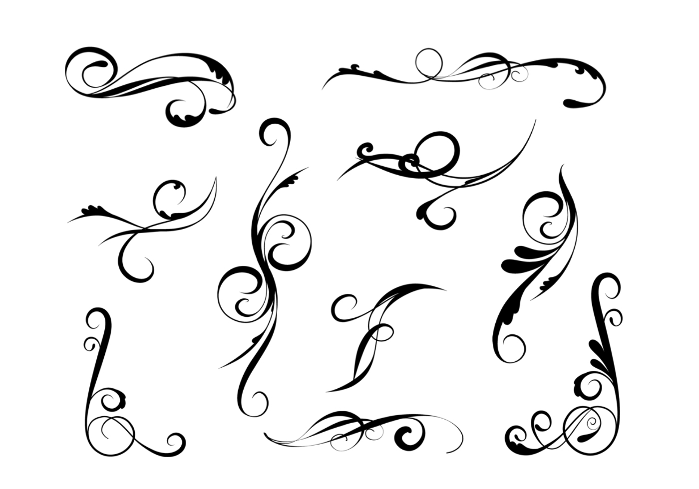 Elegant Swirl Brushes Pack Free Photoshop At