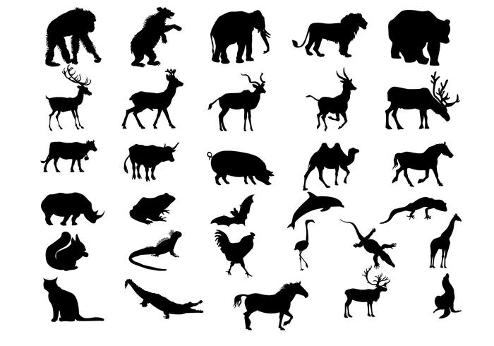 Animal Silhouettes Borstels