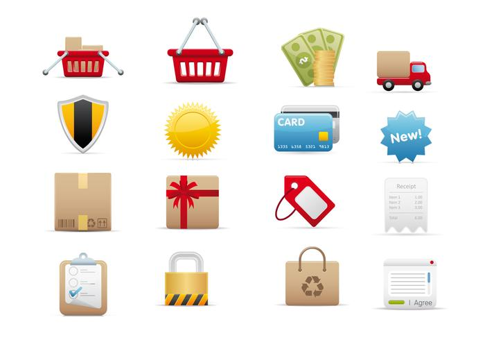 E-Commerce Pinsel Icons