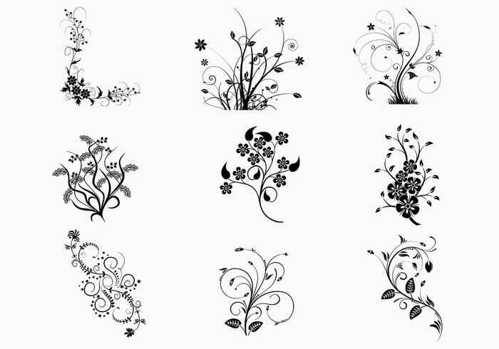 Floral Swirls Brush Pack