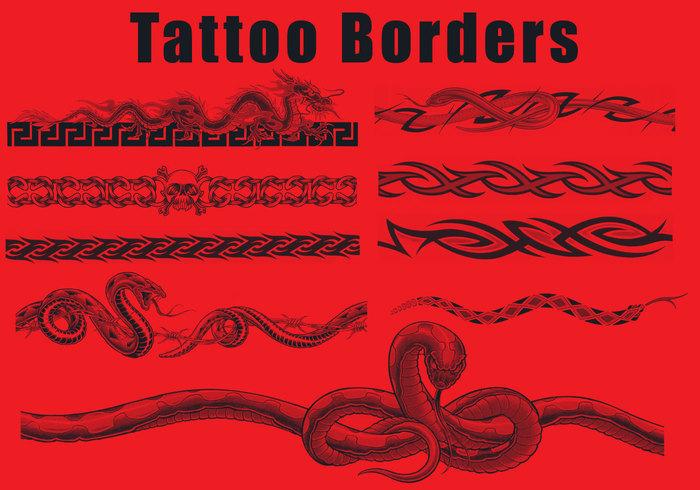 Tatuering gränsar