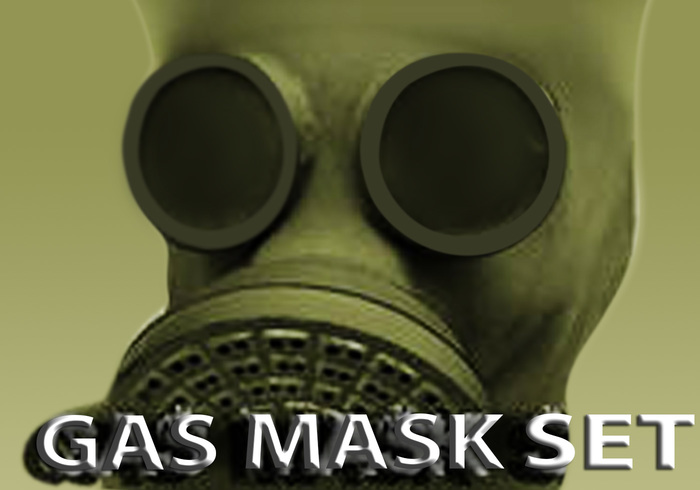 Gas Mask Photoshop Brushes