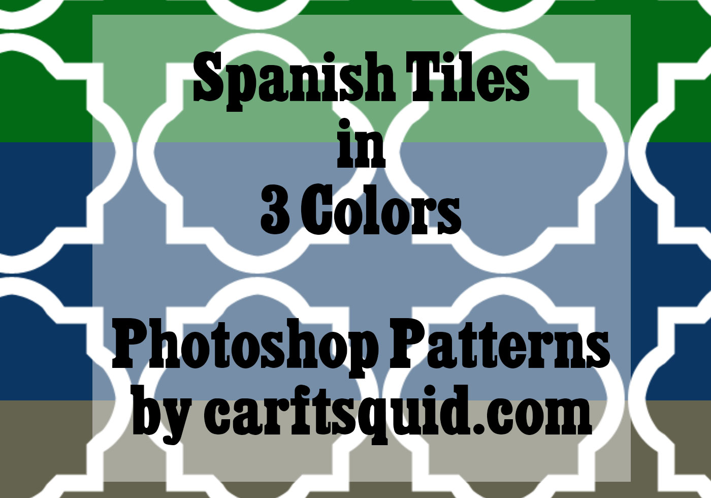 3 Colors Spanish Tiles by Craftsquid - Free Photoshop Brushes at ...