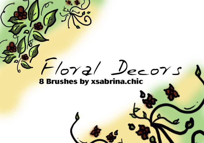 Floral Decor Art Brushes