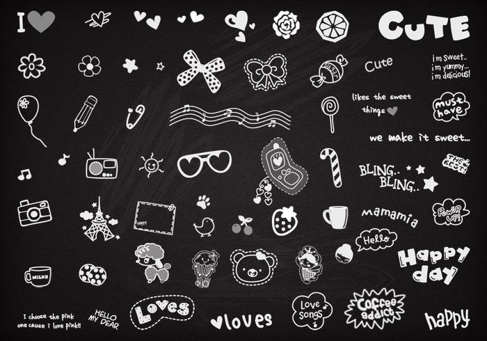 Nette Doodles Pinsel