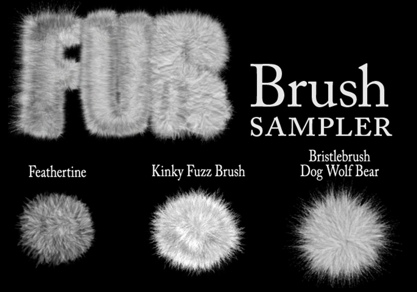 Brushes for hair illustrator
