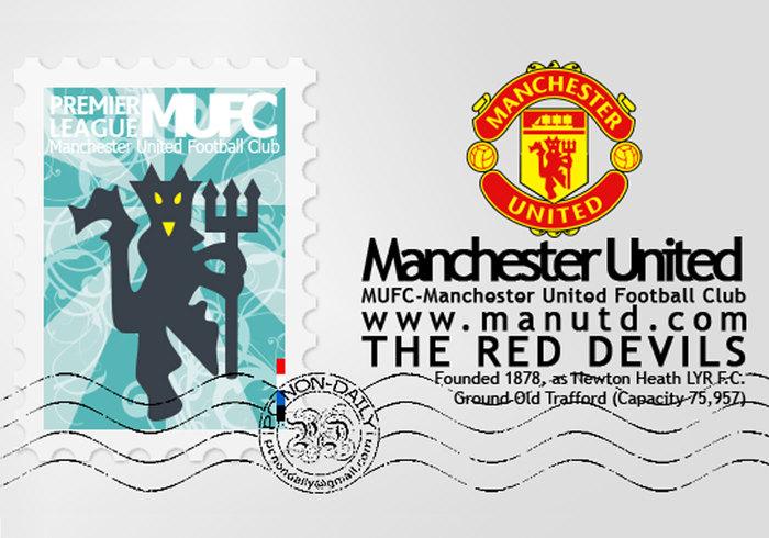 Manchester United Logo + Stämpel