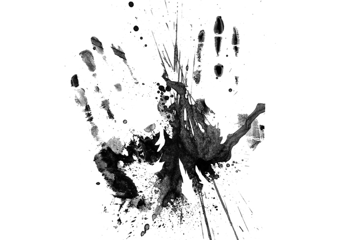 Grunge de la mano de la impresión