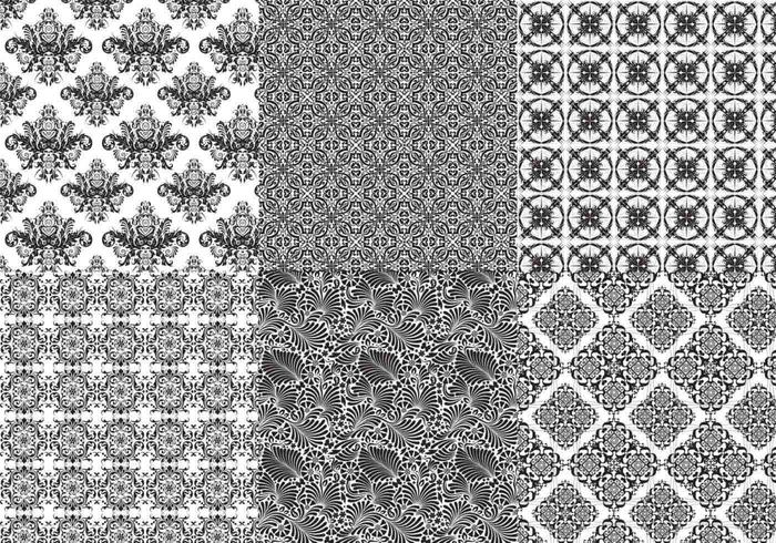 Nahtlose Barock Photoshop Patterns