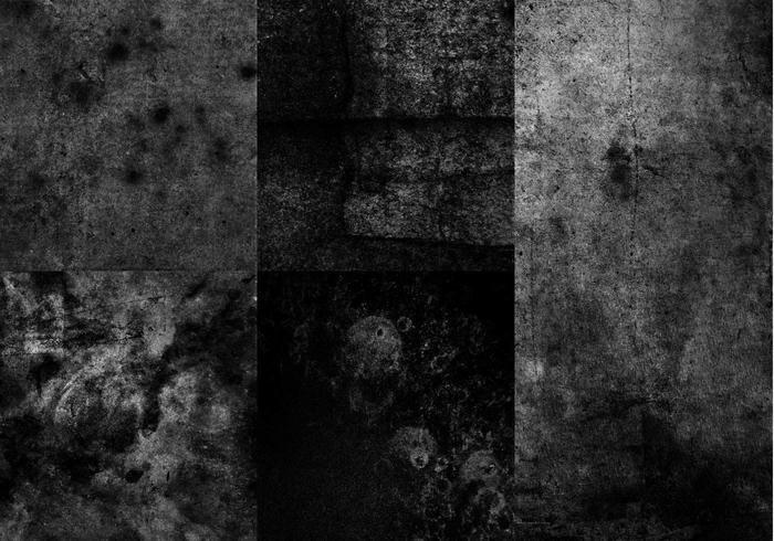 High Res Schwarz-Weiß Grunge Texturen