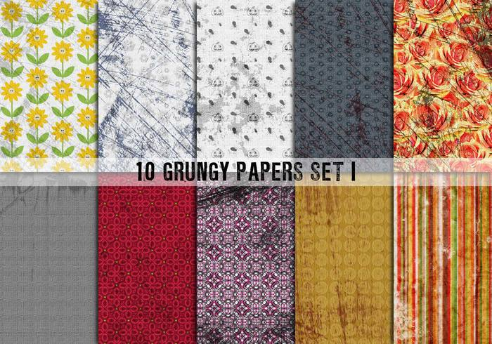 10 Grungy papers set I