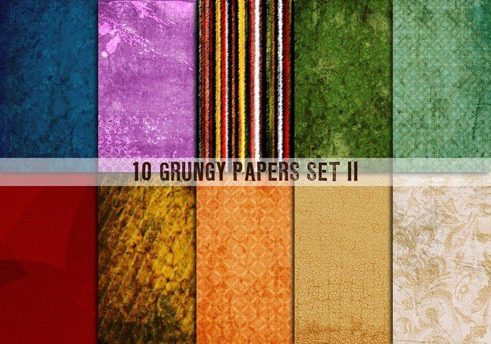 10 papiers grungy set ii