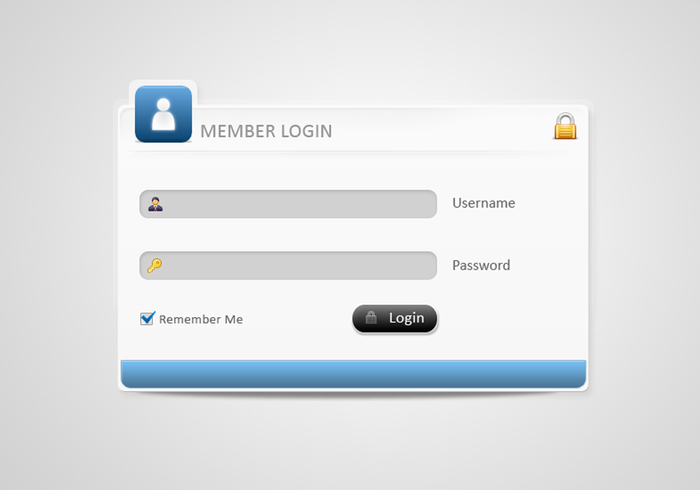 Stylish Login Formular