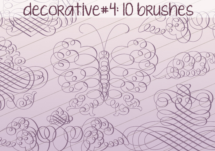 Brosses décoratives 4