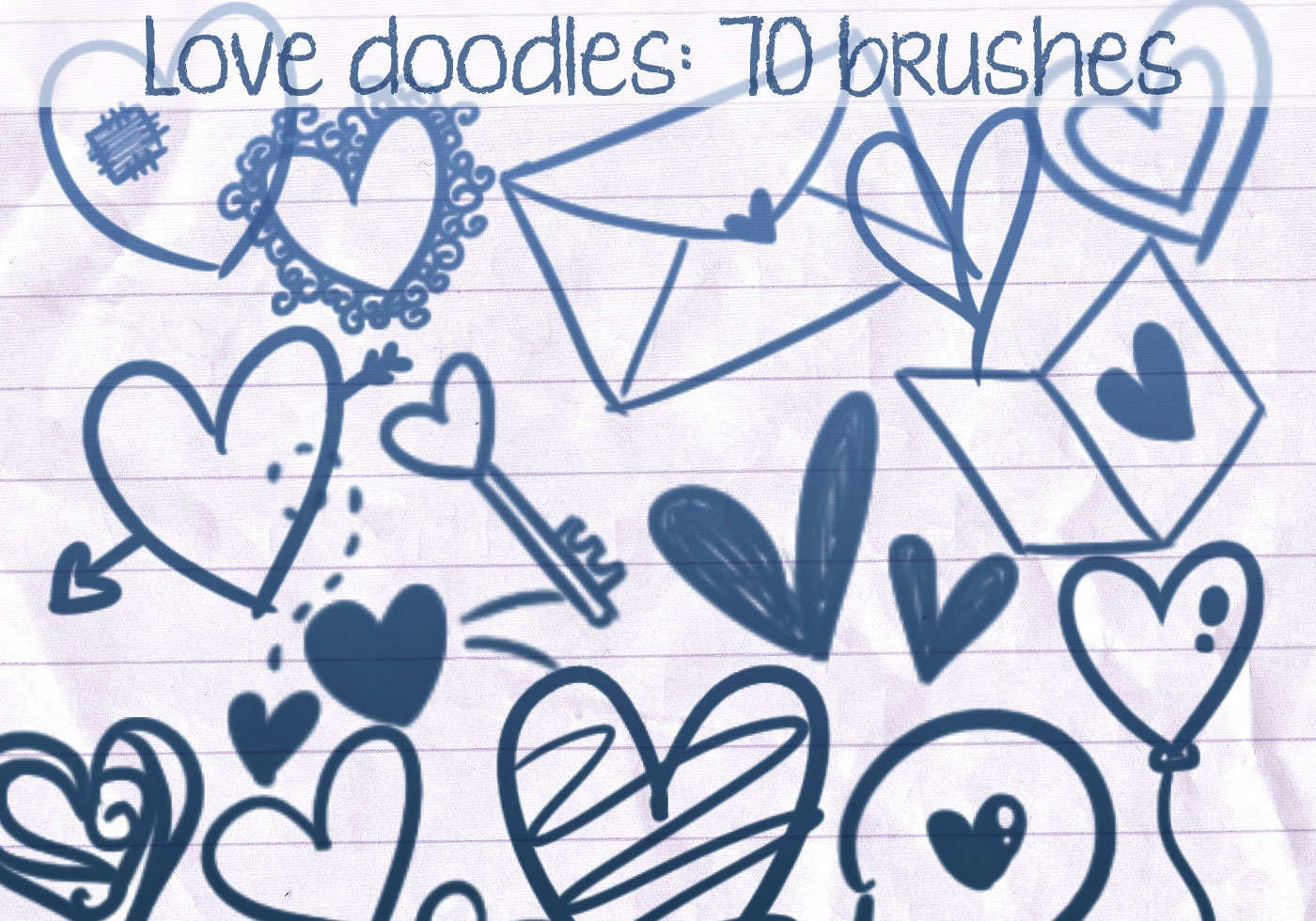 Love doodles brushes 2 free photoshop brushes at brusheezy for Love doodles to draw