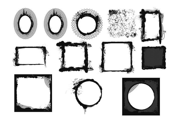 Grunge Frames Borstels