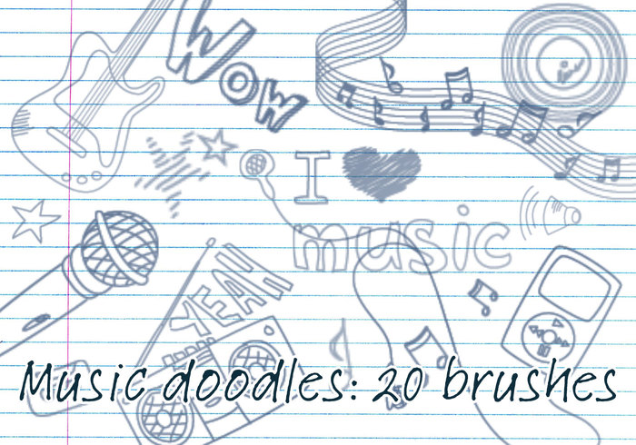 Brosses Doodles Musicales 1