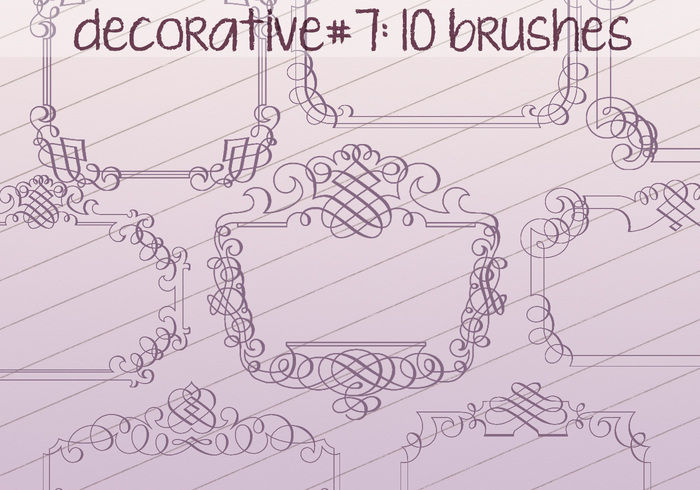 Brosses décoratives 7