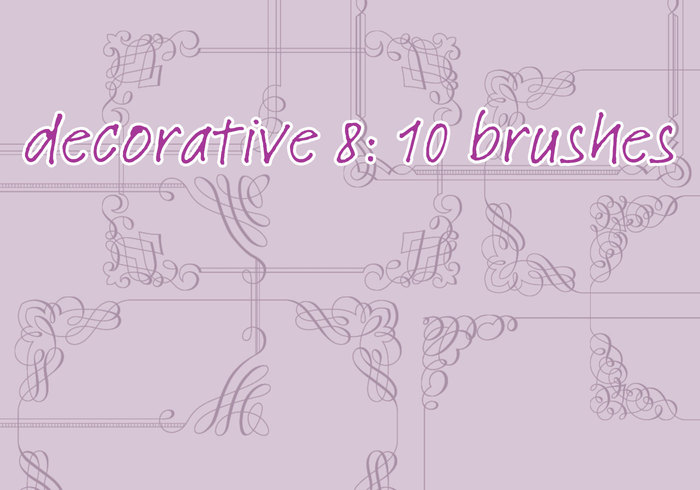 Brosses décoratives 8