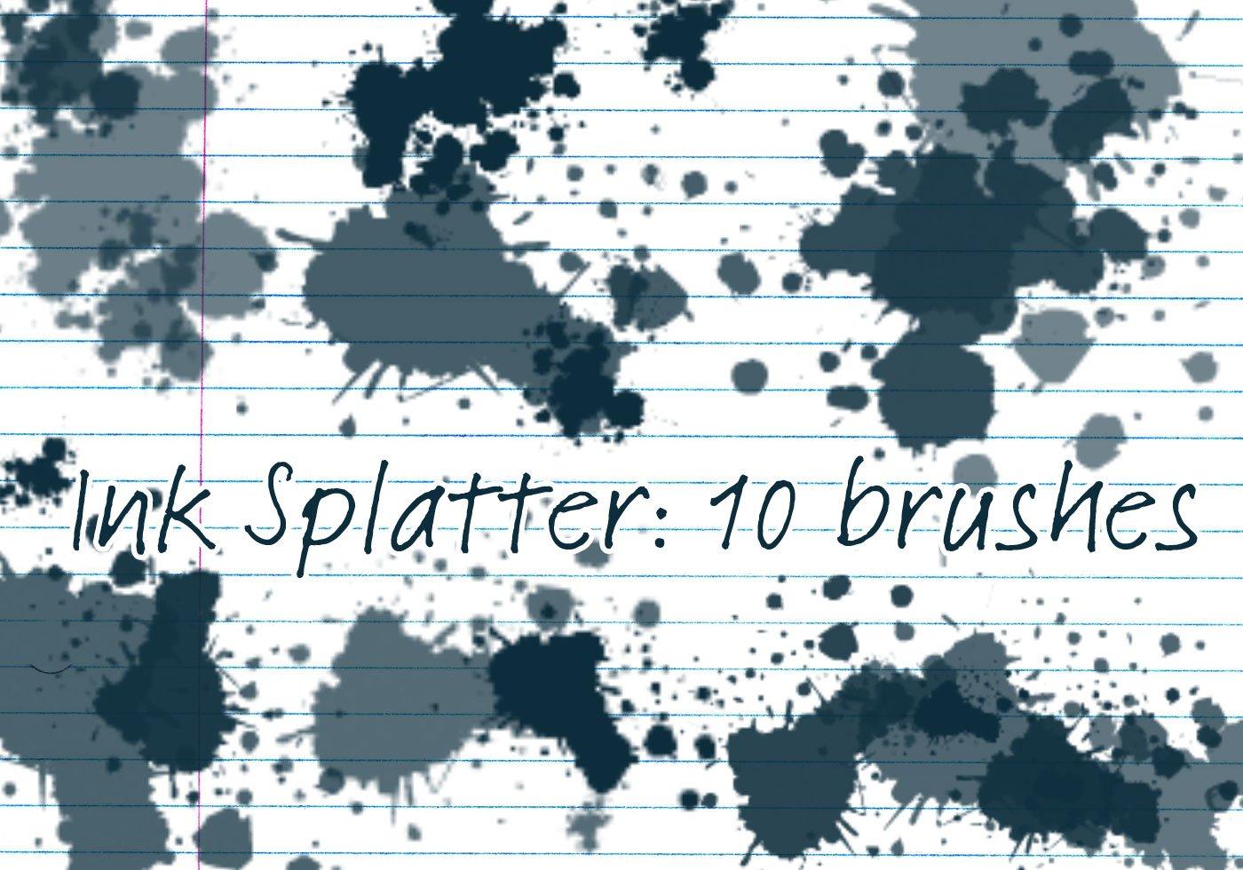 ink splatter brushes