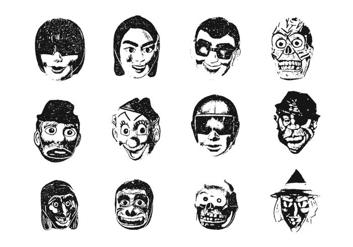 Weird Maske Pinsel Pack 2
