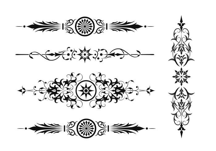 Paquete de cepillo de borde de Art Nouveau