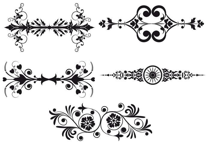 Ensemble de brosse frontière Art Nouveau Deux