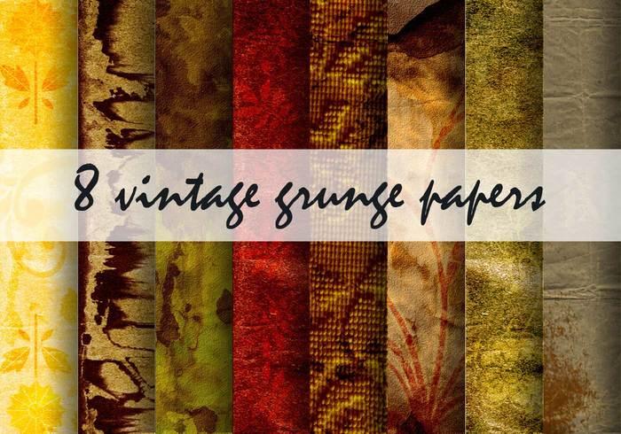 Papéis vintage do grunge