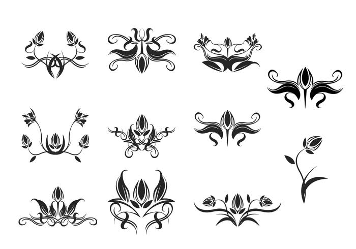 Floral Ornament Brush Pack