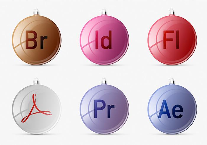 Iconos del juego de Adobe