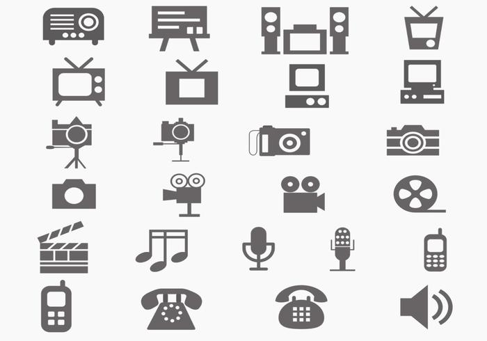 Multi Media Brush Icon Pack