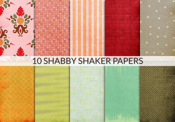 Shabby shaker papers