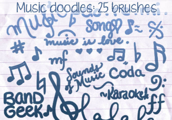 Music Doodles Brushes 2
