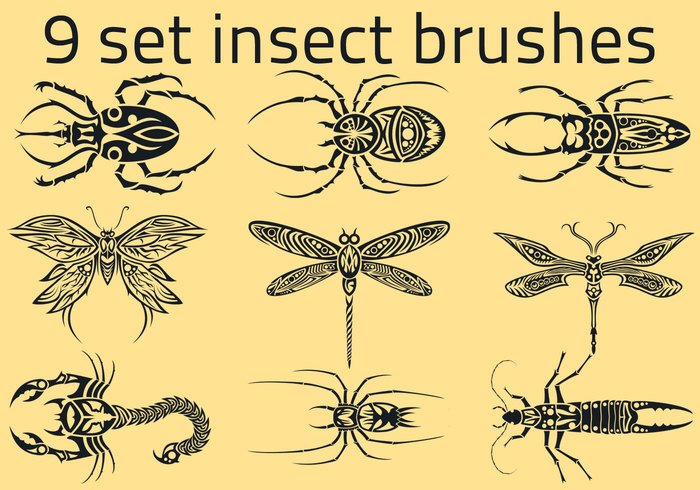 9 set Insect brushes 999 Px