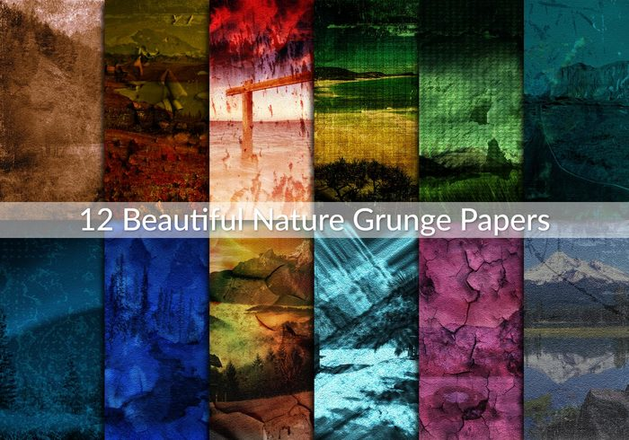 Beautiful Nature grunge papers