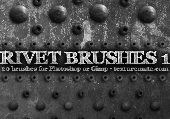 Rivet 1 Brushes from texturemate.com