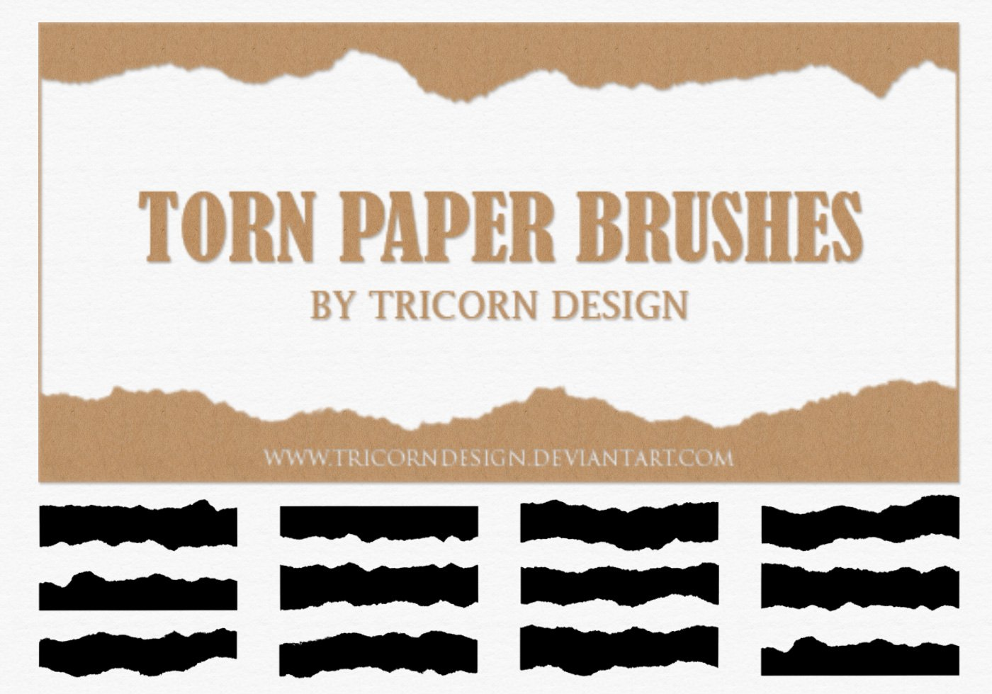torn paper brushes