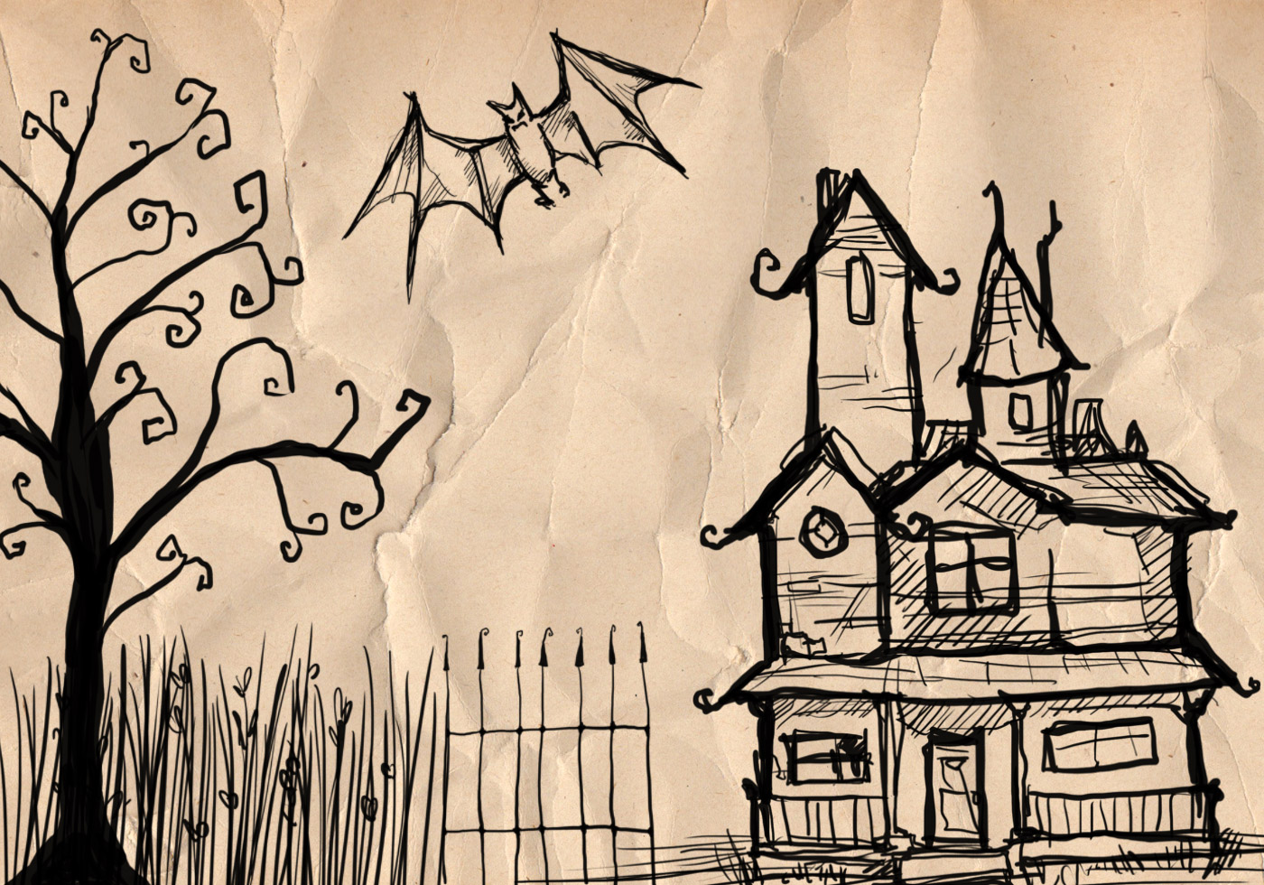 Halloween sketch brushes free photoshop brushes at for Sketch online free