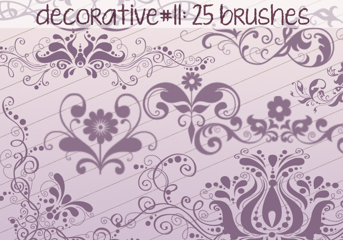 Brosses décoratives 11