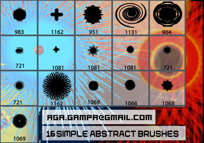16 simple abstract brushes