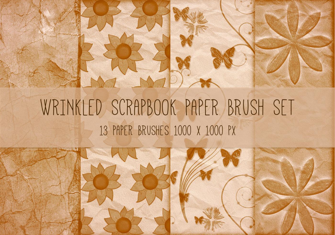 Scrapbook Papers Brushes Set 02 Free Photoshop Brushes